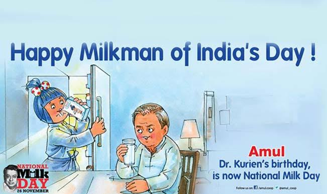 Milk day reason Verghese kurien Amul Anand